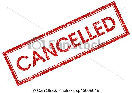 Clipart of cancelled red square stamp csp15609619.