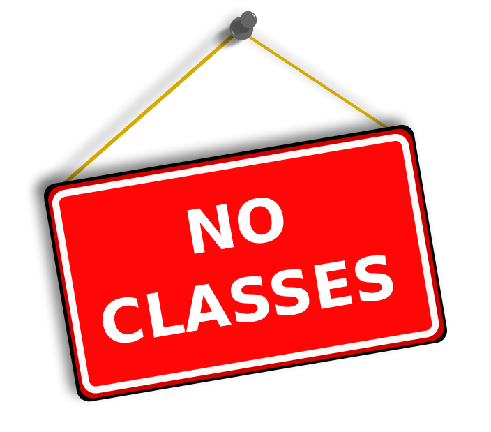 Class cancelled clipart.