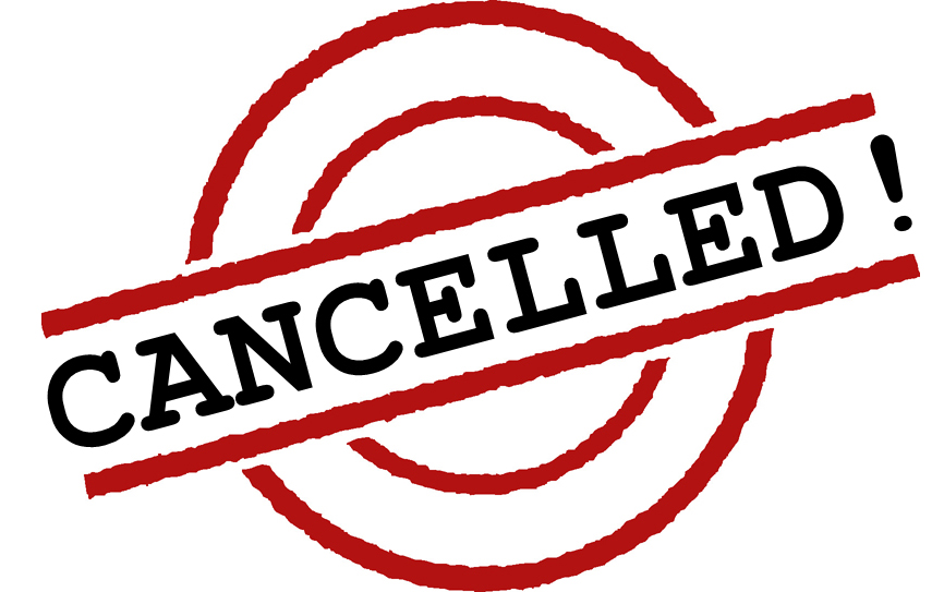 Meeting Cancelled Due To Weather Clip Art free image.