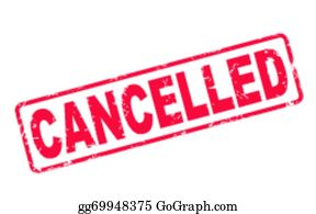 Cancelled Clip Art.