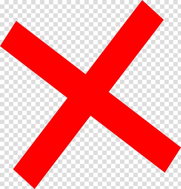Red x , Computer Icons Cancellation , x mark transparent.