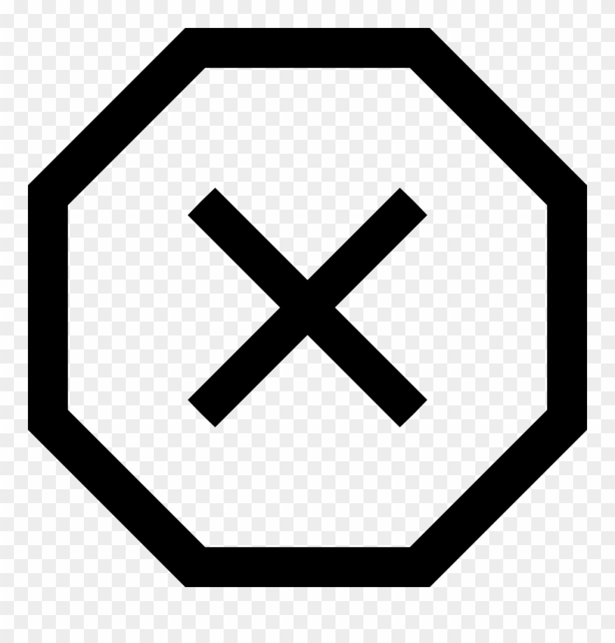 Stop Sign Png Cross.