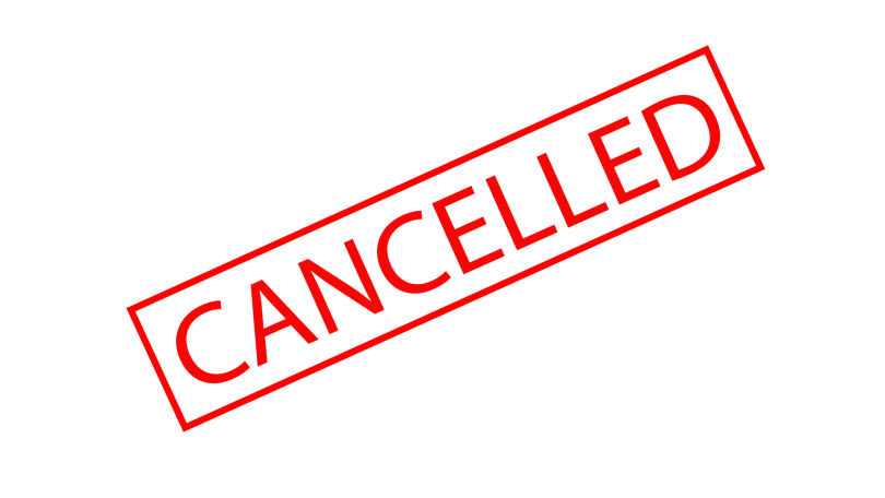 Cancelled sign.