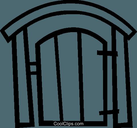 cancello posteriore cantiere immagini grafiche vettoriali.