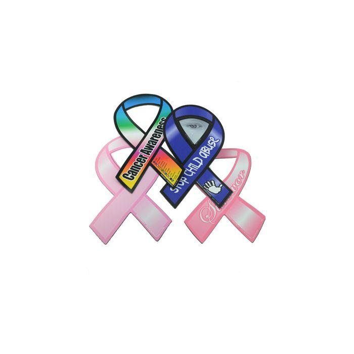 Cancer Awareness Ribbon Car Magnets.