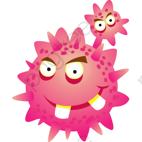 Cancer Cell Vector, Cancer Cell Cartoon, Bacterial Map PNG.