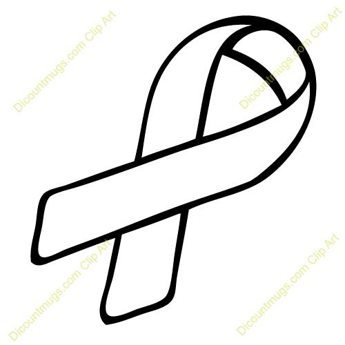 Best Cancer Ribbon Outline #23888.