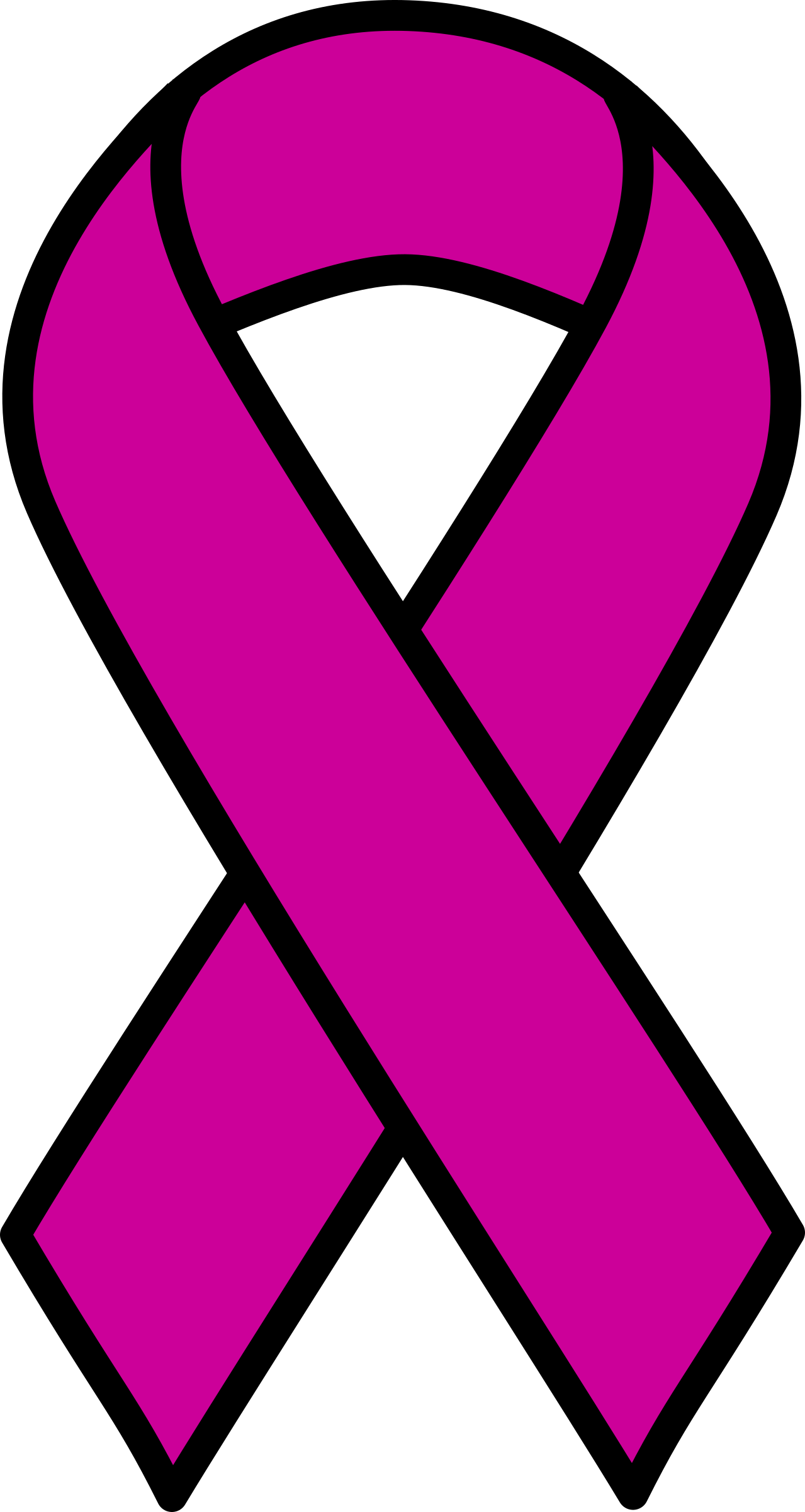 Purple cancer ribbon clip art.