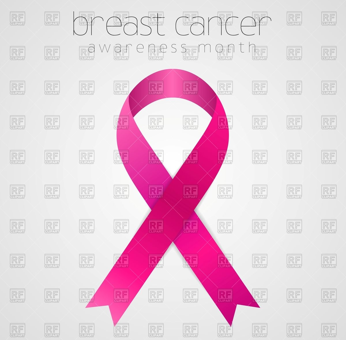 Breast cancer awareness pink ribbon tape Stock Vector Image.