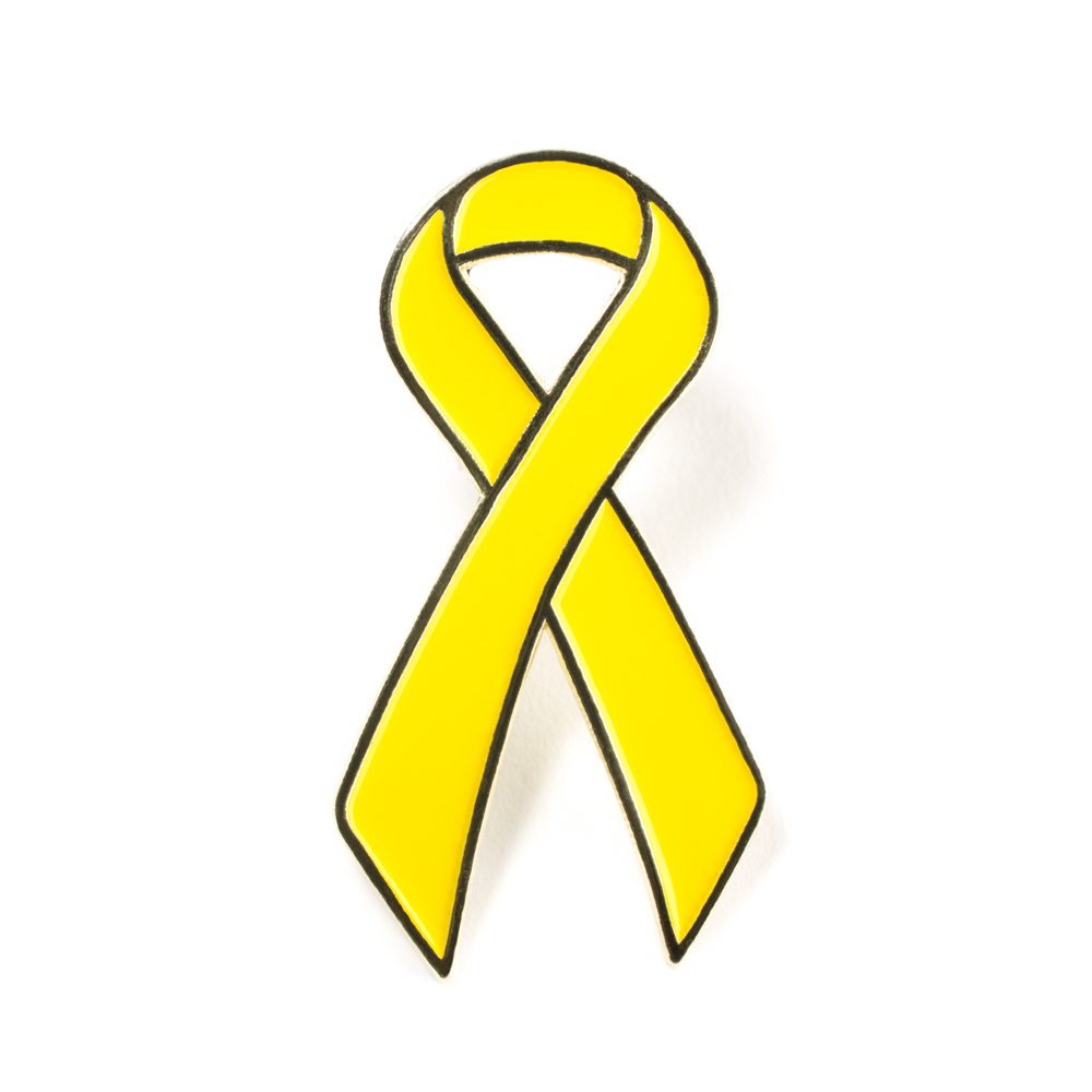 Childhood Cancer Ribbon clipart free image.