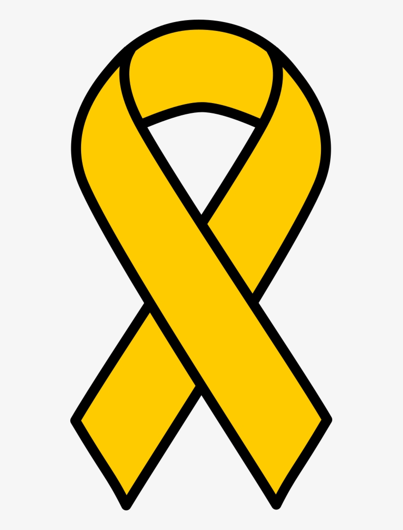 Gold Childhood Cancer Ribbon.