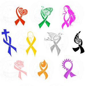 Kidney Cancer Awareness Green Ribbon Vector Clipart.