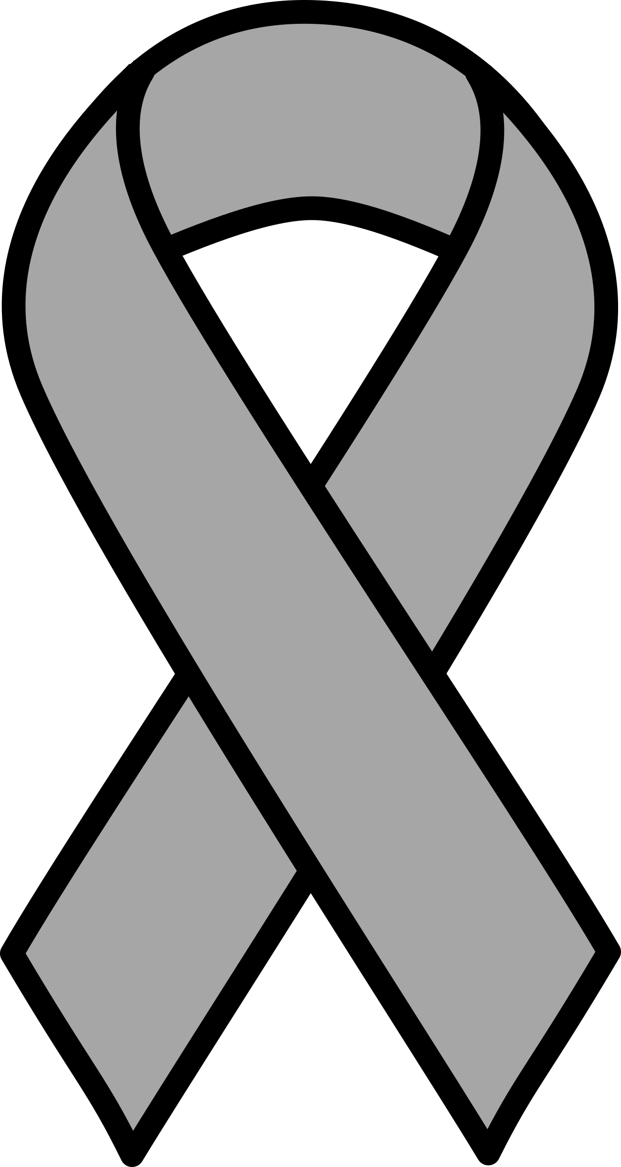 580 Cancer Ribbon free clipart.