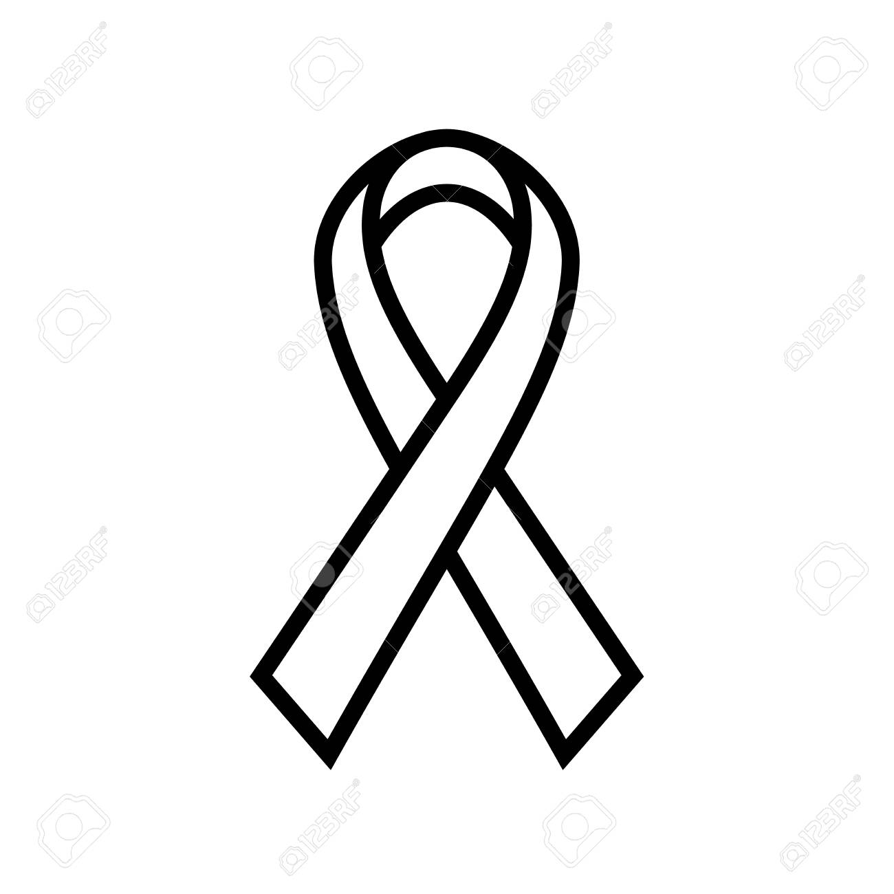 Breast Cancer Awareness Ribbon icon. Symbol of women healthcare.