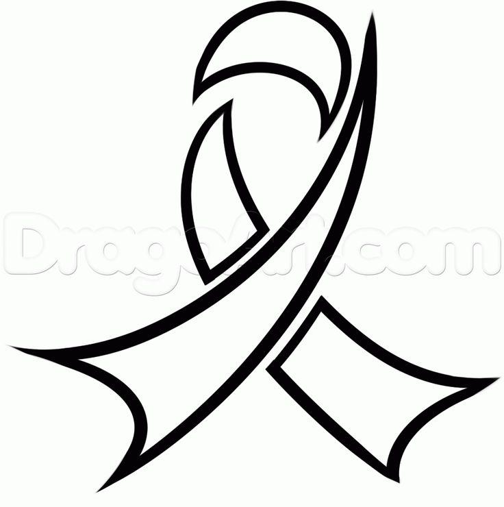 Awareness Ribbon Outline.