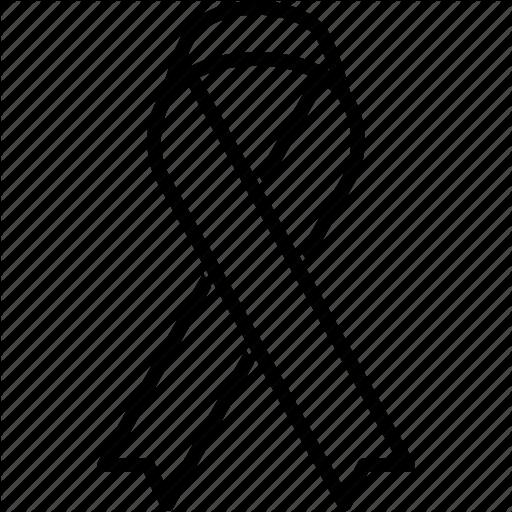 Cancer Ribbon Outline.