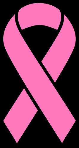 Breast cancer ribbon.