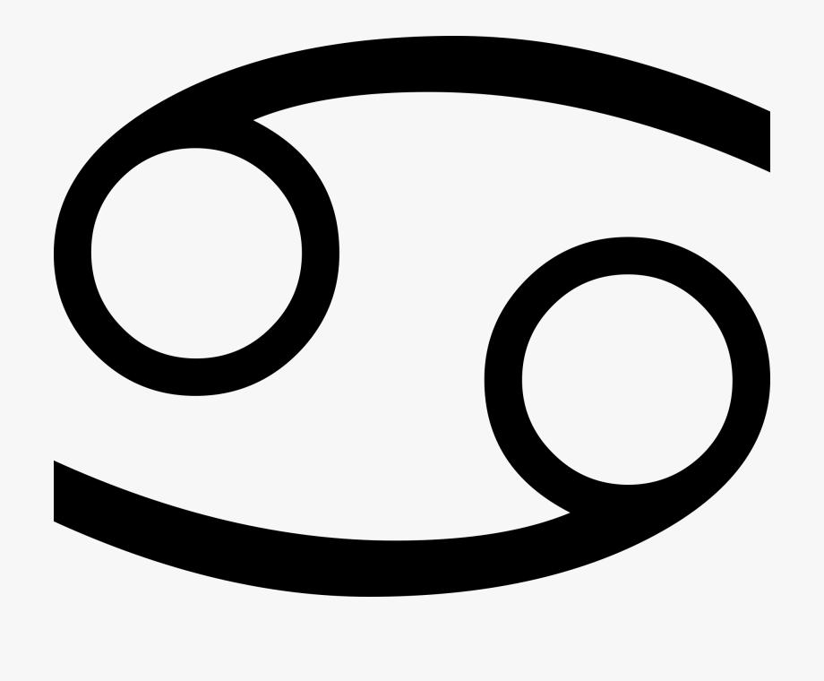 Zodiac Cancer Symbol Png, Cliparts & Cartoons.
