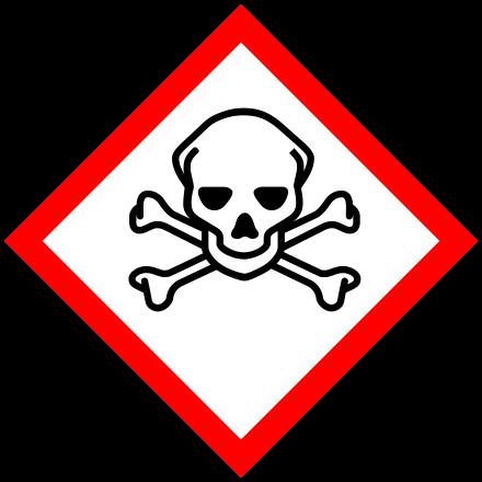 Étiquette de danger des substances chimiques.