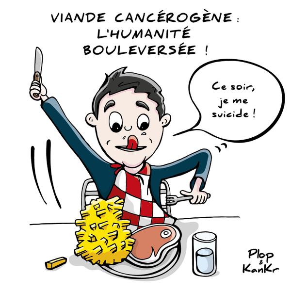 "Plop & KanKr on Twitter: ""#Viande cancérogène : l'humanité."