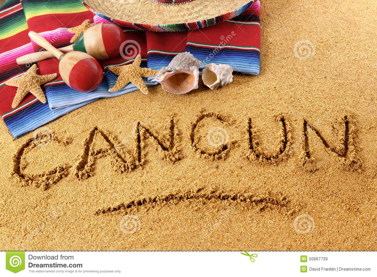 Cancun Beach Clip Art.