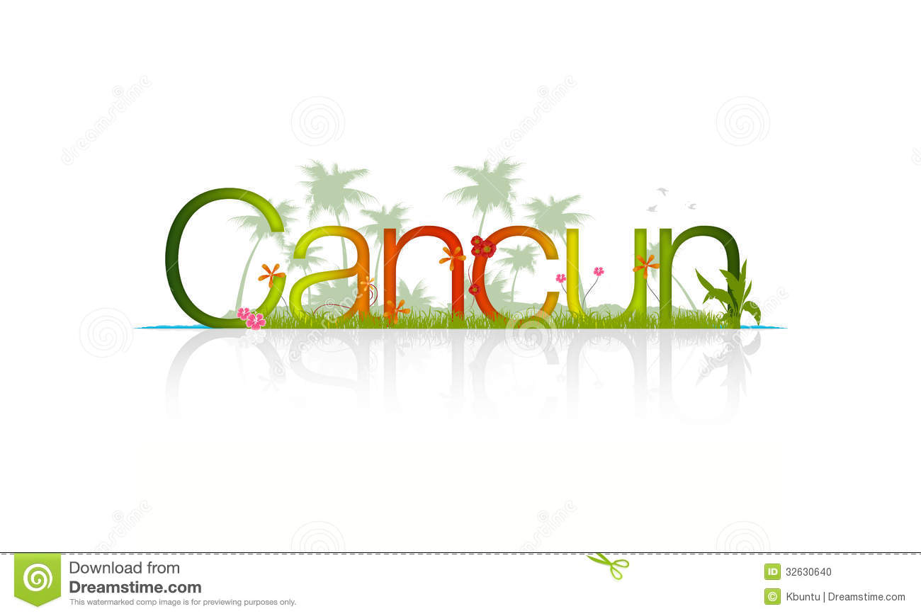Cancun Stock Illustrations.