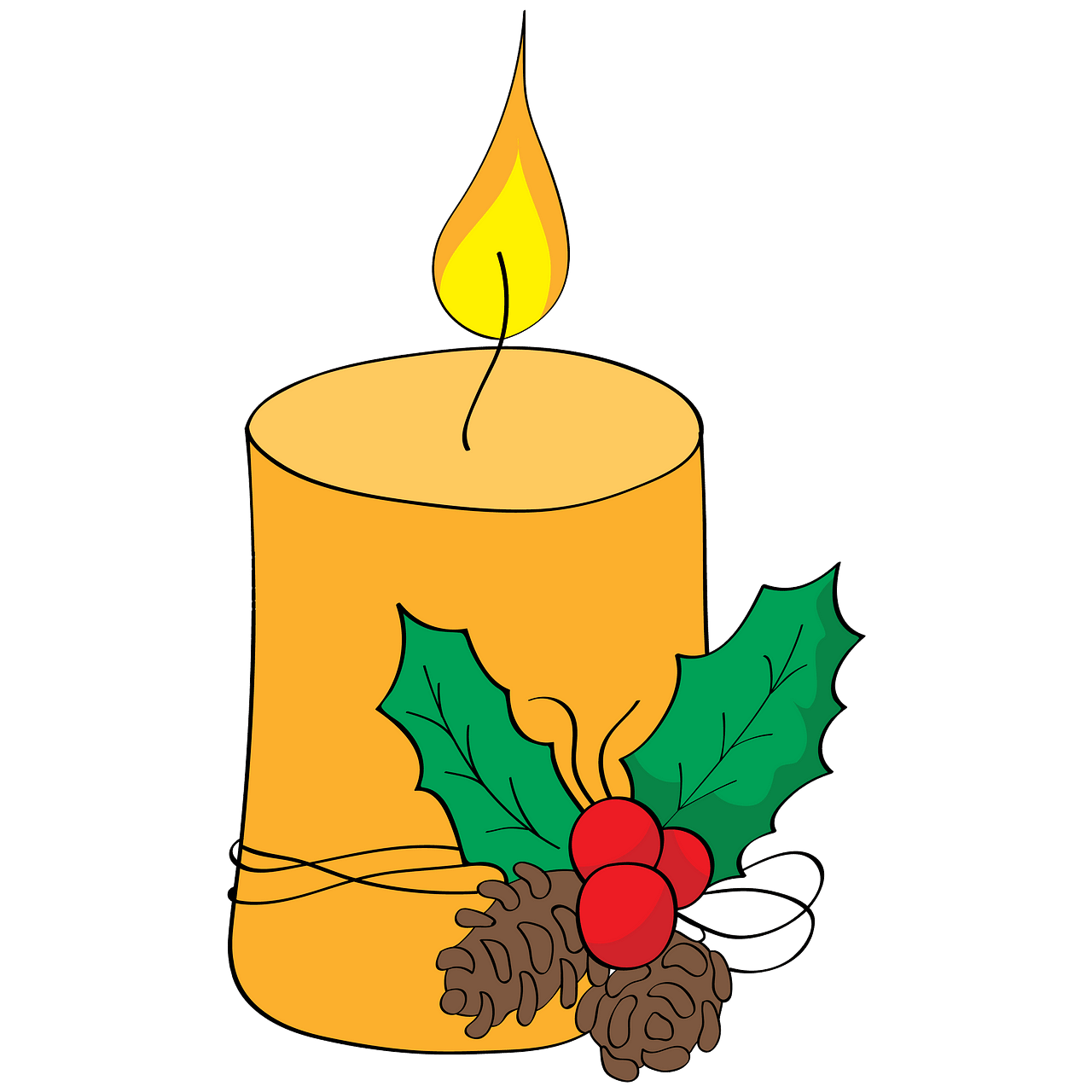 Christmas Candle clipart. Free download..
