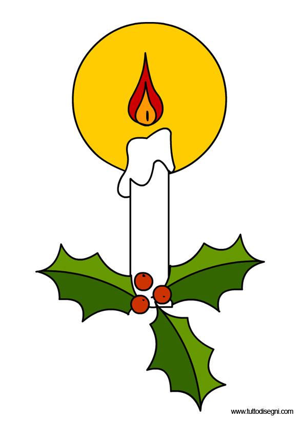Candela di Natale.
