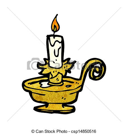 Vector Clip Art of old candle holder cartoon csp14850516.