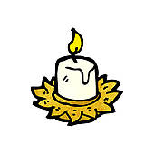 Clipart of old candle holder cartoon k15551021.