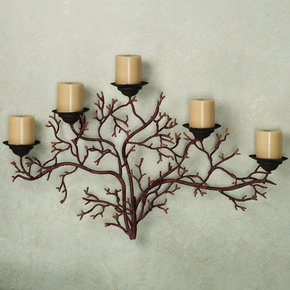 Coral Reef Wall Candelabra Burnt Red $45.