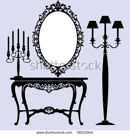 Vintage Mirror Stock Photos, Royalty.