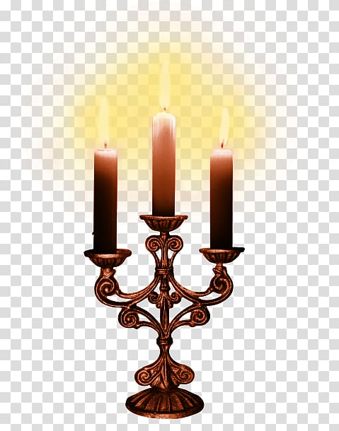 Paracas Candelabra Lighting Candlestick, Copper candlestick.
