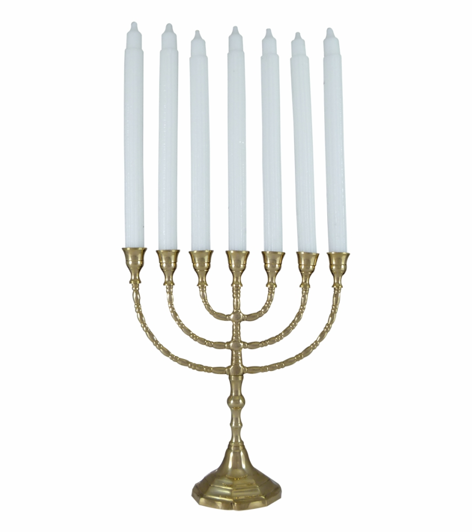 7 Candle Holder Solid Brass Menorah.