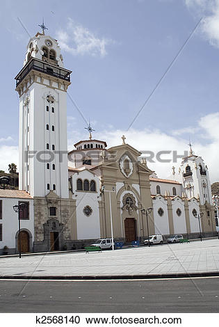 Stock Photography of The Basilica of Candelaria, Tenerife. The.