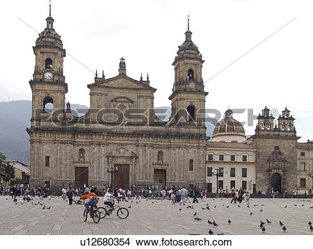 Stock Photo of bogota, person, candelaria, sunday, colombia.