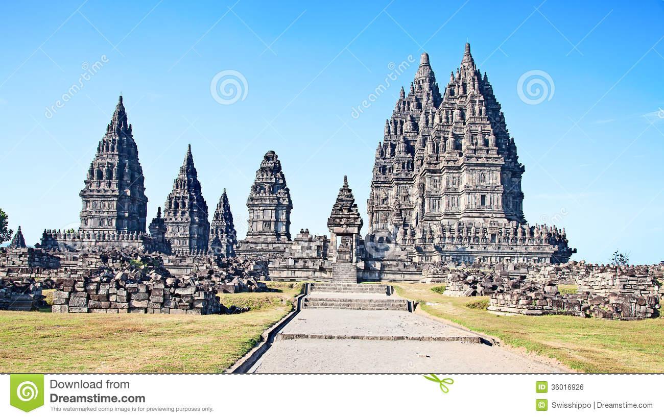 Hindu Temple Prambanan Royalty Free Stock Image.