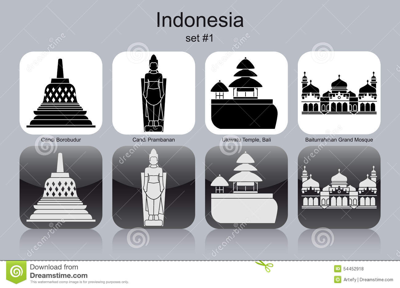 Candi Stock Illustrations.