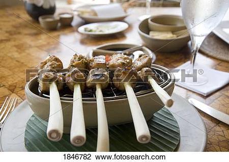 Stock Photo of Candidasa, Bali, Indonesia; Balinese food 1846782.