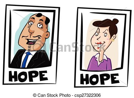 Election candidates icon clipart.