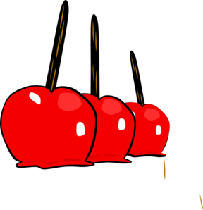 Candied apple clipart transparent free.