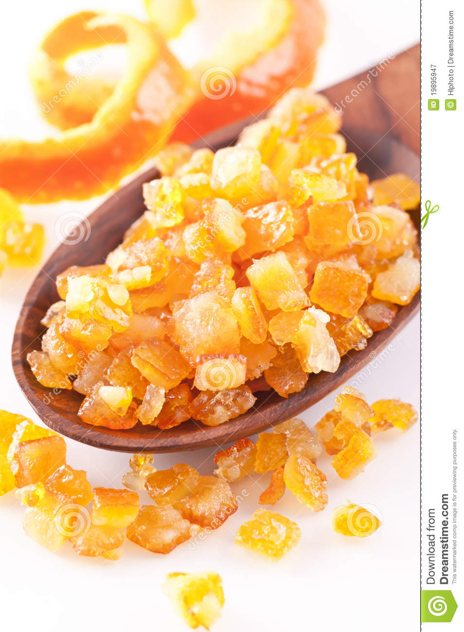 Candied Orange Peel Royalty Free Stock Photography.
