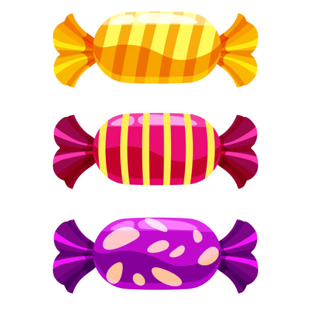 Best Wrapped Candy Illustrations, Royalty.