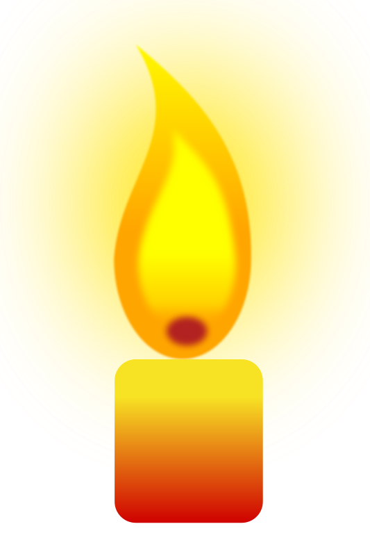 Free Clipart: Burning Candle.