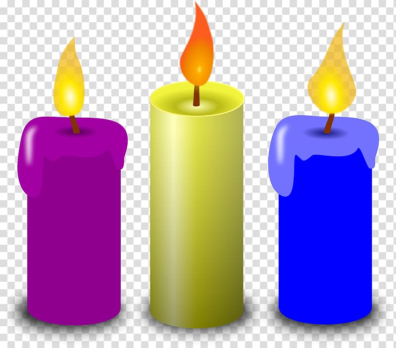 Birthday cake Candle , Church Candles transparent background PNG.