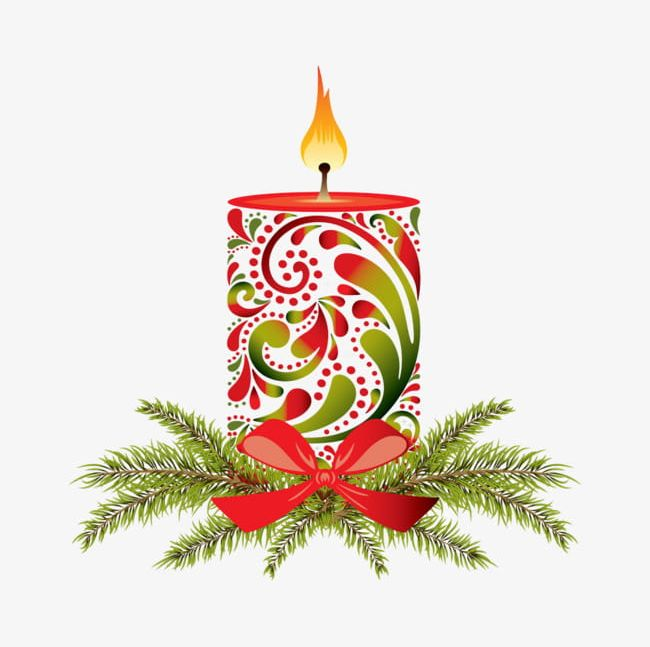 Christmas Flower Buckle Creative Candle Hd Free PNG, Clipart.