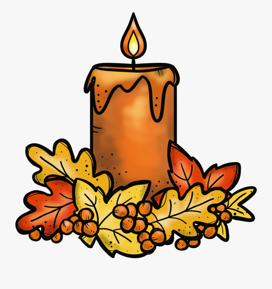 Thanksgiving Candle Cliparts.