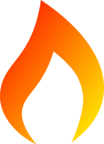 Candle flame clip art.