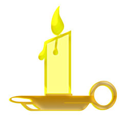 Candle Holder Clipart.