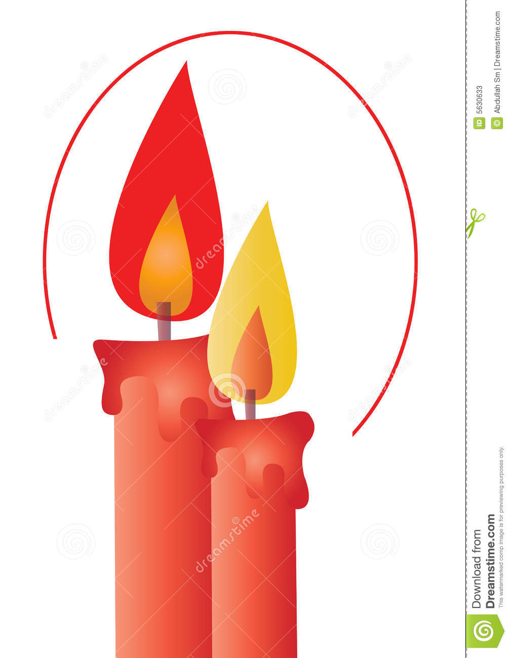 Candlelight Clip Art.